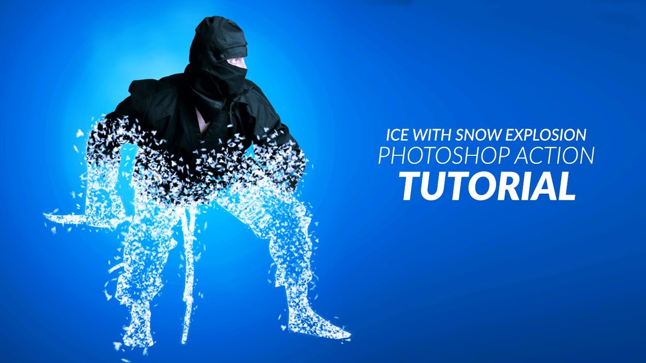 Ice with snow explosion photoshop action tutorial youtube baditri Images