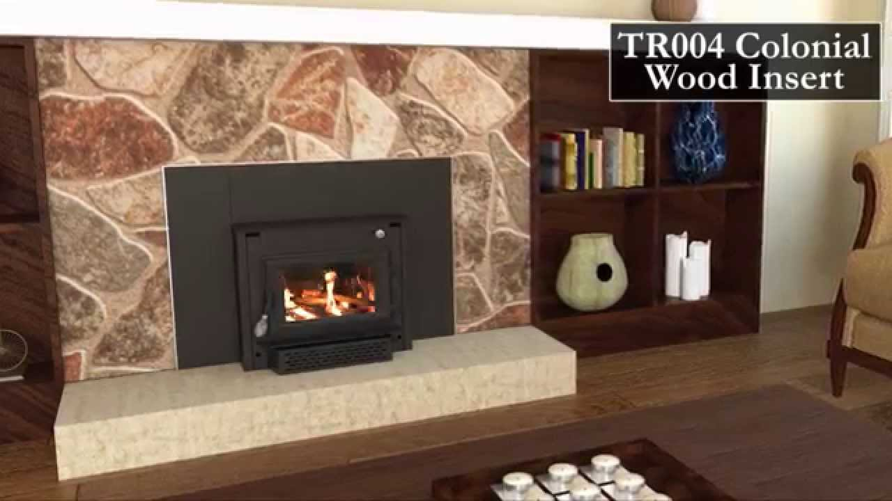 tr004 colonial wood stove insert youtube