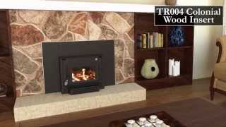 Tr004- Colonial Wood Stove Insert
