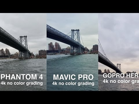 Thumbnail: DJi MAVIC vs. PHANTOM 4 vs. GOPRO KARMA side by side comparison in 4k