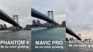 DJi MAVIC vs. PHANTOM 4 vs. GOPRO KARMA side by side comparison in 4k by : CaseyNeistat