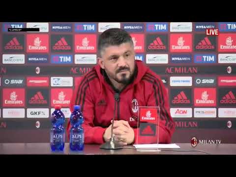 Gattuso conferenza pre Udinese   Milan del 03 02 2018 FULL HD