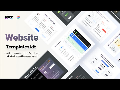 Material Web Design In Figma. Templates For Landing Pages To Double A Conversion