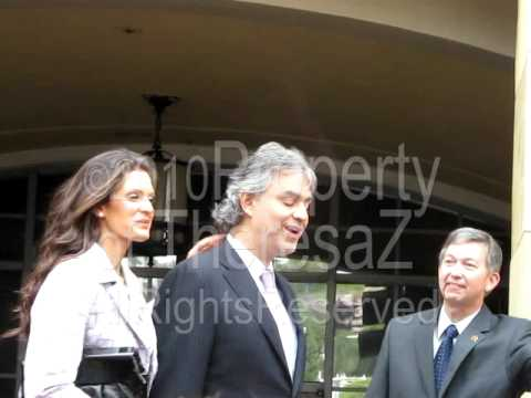 Andrea Bocelli sings Con Te Partiro with Clair Nordstrom at his Walk of Fame Ceremony 3-2-10