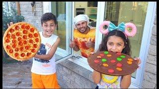 يلعب الأطفال مطعم بيتزا درايف من خلال مطعم | pizza drive |Heidi و Zidane