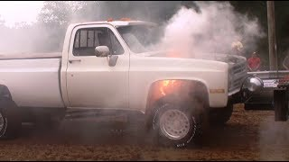 Modified Gas Truck Class Over 500ci At Blanchard Truck Pulls 2017 Day 2