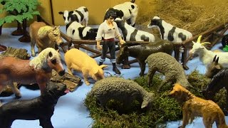 Farm Animal Toys Collection Part 1 colección de juguetes de animales de granja parte 1