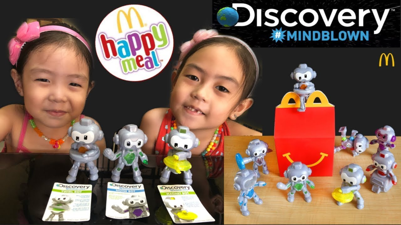 Mcdonalds Discovery Mindblown Bots Happy Meal Toys March