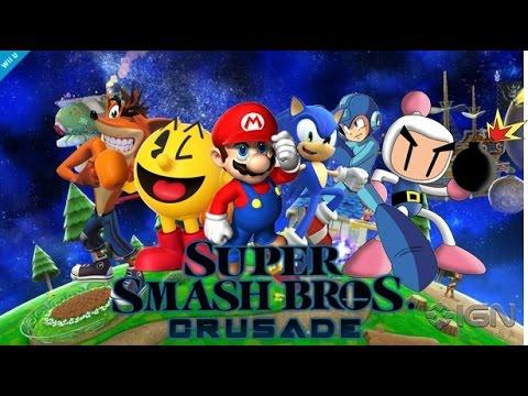 Super Smash Bros CRUSADE Mario vs Sonic vs Crash vs Pacman vs