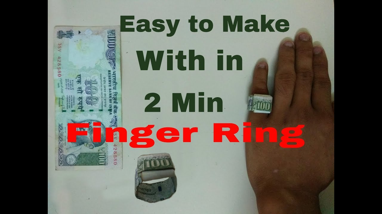 How to Make an Origami Dollar/Rupee Ring (Moneygami) - YouTube