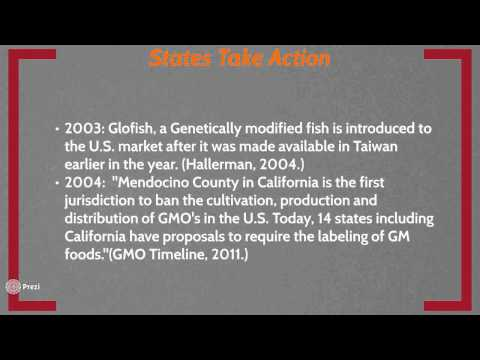 Genetically Modified Organisms Timeline