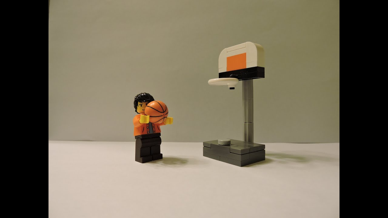 How to make a lego basketball hoop youtube for How to build a basketball goal