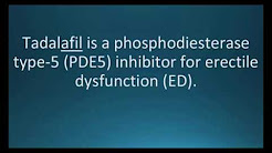 How to pronounce tadalafil (Cialis) (Memorizing Pharmacology Flashcard)