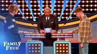 When I get to heaven, I want... wait, WHAT? | Celebrity Family Feud