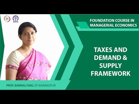 Taxes and Demand and Supply Framework