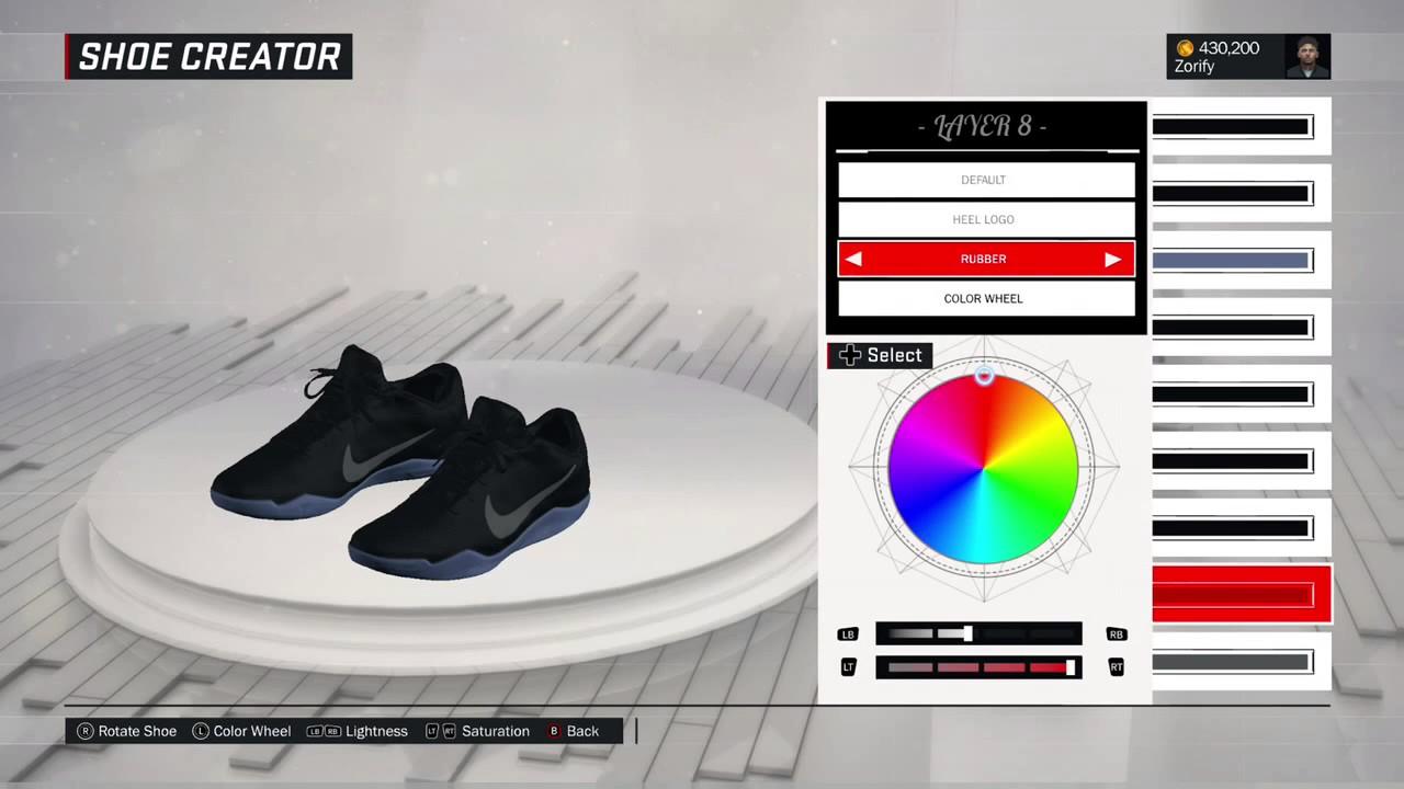 NBA 2K17 Shoe Creator - Nike Kobe 11