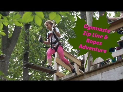"Gymnasts Zip Line & Ropes Adventure | ""We Should Make Music"" 