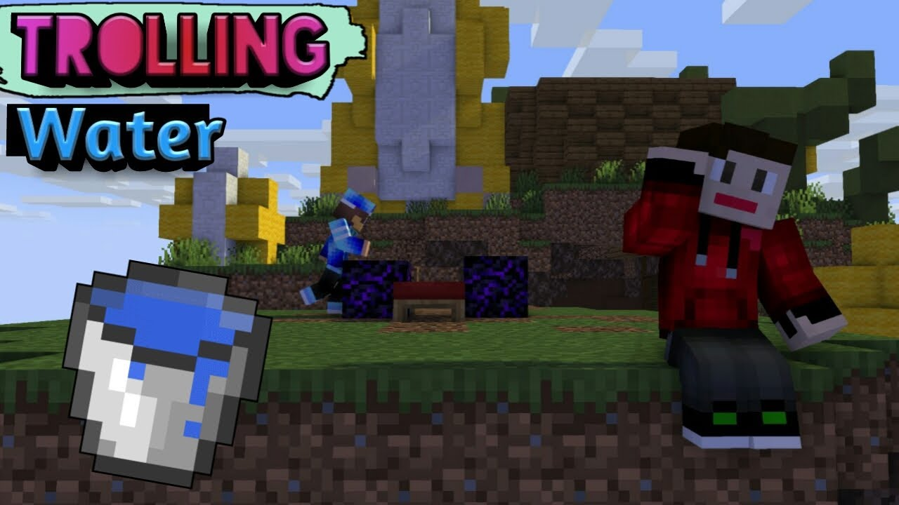 Water Trolling In BedWars !!! 😂😂 Minecraft PE In Hindi | Nether Games|McpeHindi