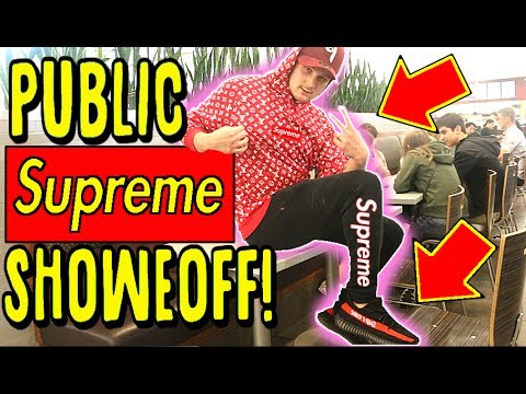 Wearing And Flexing Fake Supreme At The Mall Exposed And