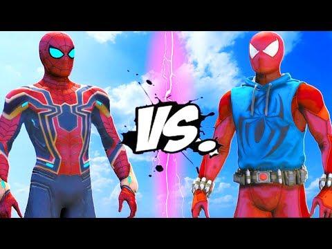 IRON SPIDER VS SCARLET SPIDER - EPIC BATTLE