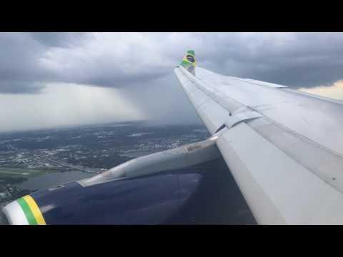 Landing in Orlando International Airport/ Pouso no Aeroporto Internacional de Orlando (Azul A330)