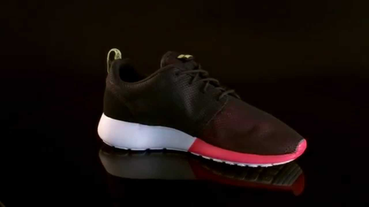 low cost nike roshe run anthracite red venom green sail