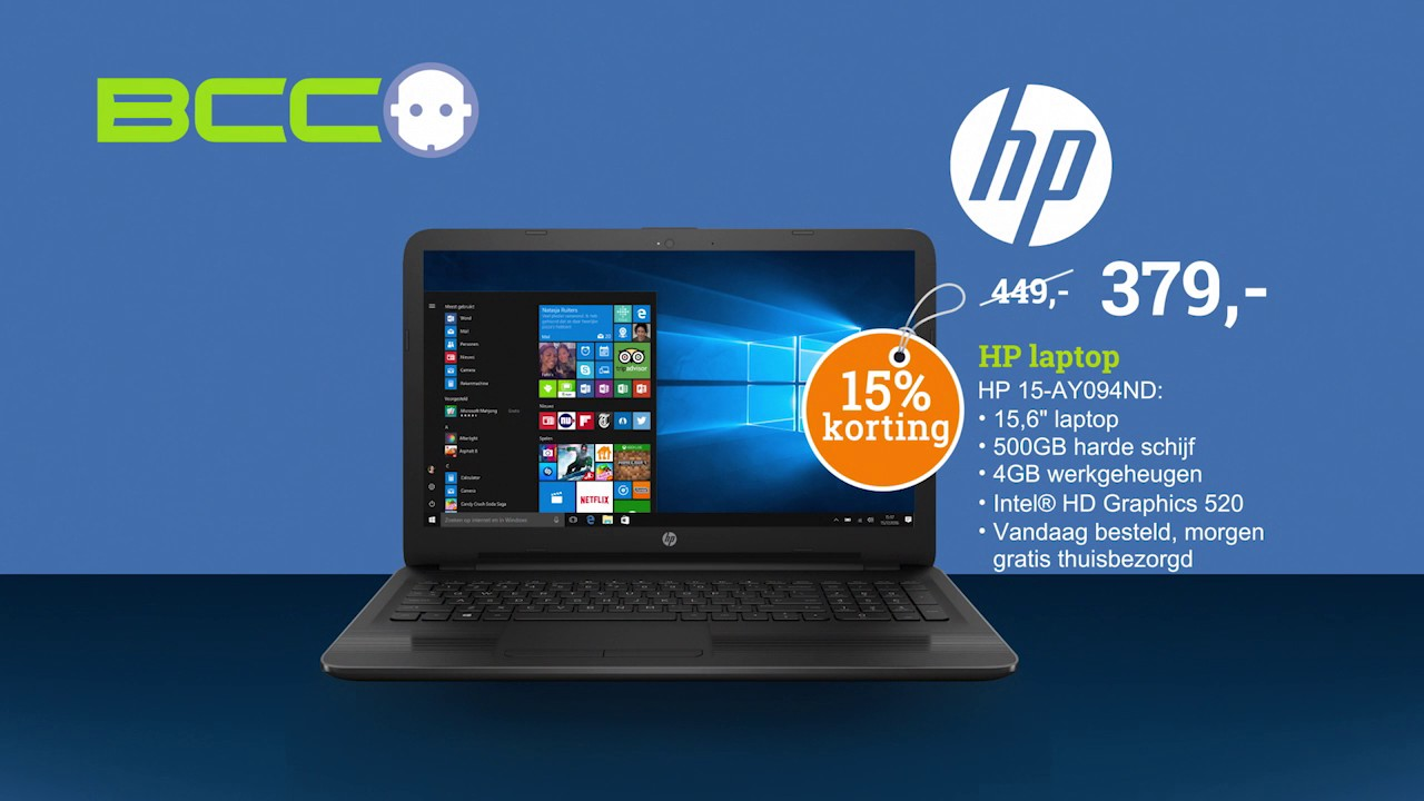 Hp Korting Bcc Vervangingsweken Hp Laptop 15 Ay094nd