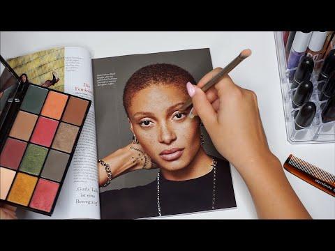 ASMR Doing Makeup On Magazine Models (german/ deutsch) thumbnail
