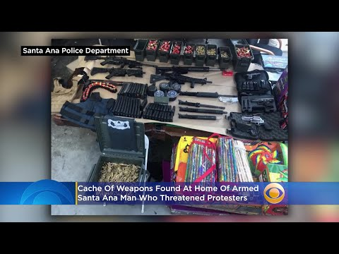 Cache Of Weapons Found At Home Of Armed Santa Ana Man Who Threatened Protesters