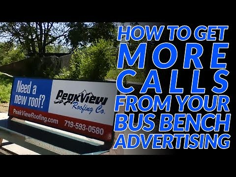 How to get customers from bus bench advertising
