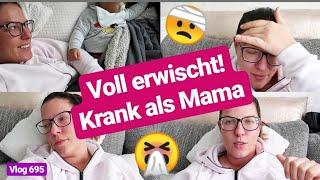 Labervlog! l Krank/Schmerzen, Baby Schnarcht, Krabbeldecken,.. l Vlog 695