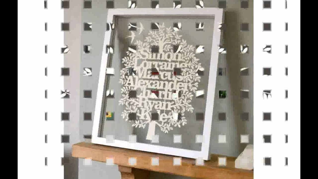 Large Family Tree Picture Frame - YouTube