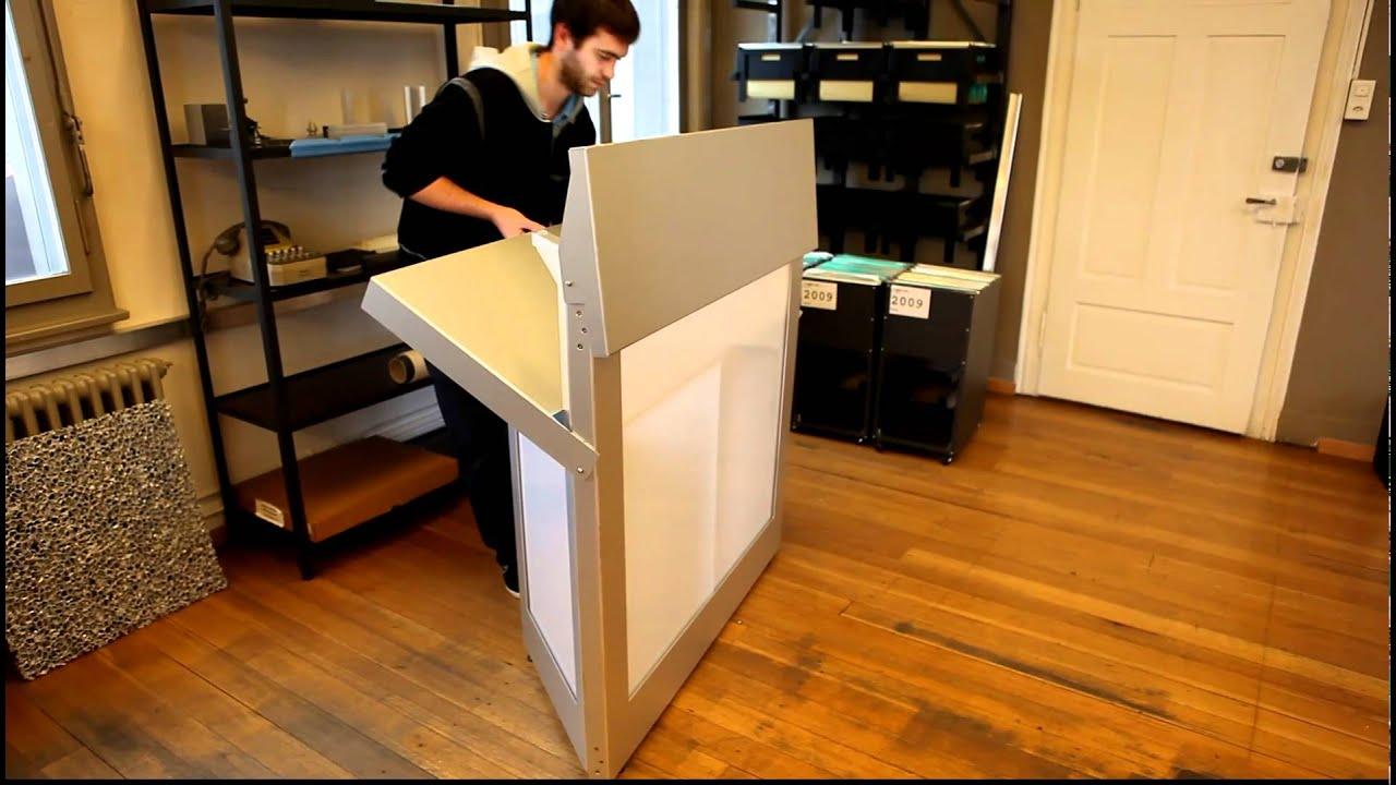 klappbar aus aluminium barelement youtube. Black Bedroom Furniture Sets. Home Design Ideas