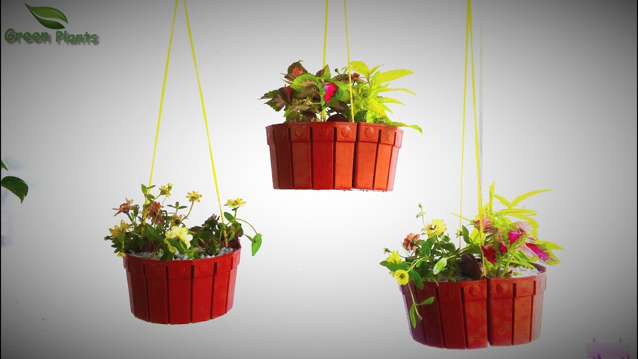 Something Different Hanging Flower Pots Unique Hanging Baskets Pots Hanging Garden Green Plants Youtube