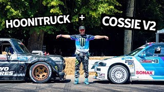 Ken Block's All-GoPro Goodwood Shredding! Hoonitruck + Cossie V2 Onboard Footage w/Raw Engine Sounds