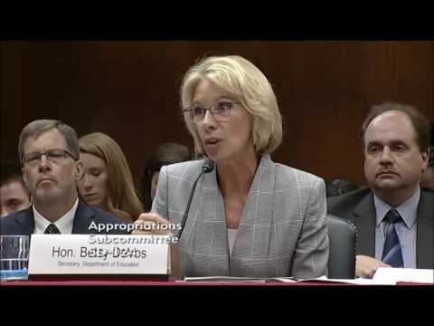 Capito Presses Education Secretary DeVos During Appropriations Hearing