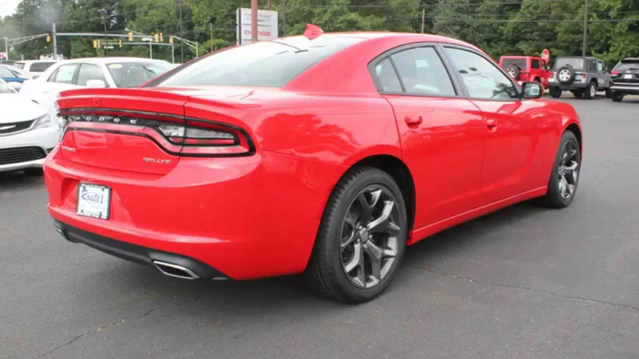 2015 Dodge Charger Rallye Red - YouTube