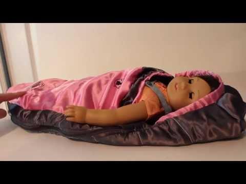 American Girl Doll Coleman Sleeping Bag Review!
