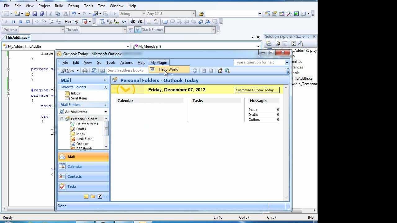 How to develop an MS Outlook Plugin Outlook addin development Outlook addin  Video Tutorial