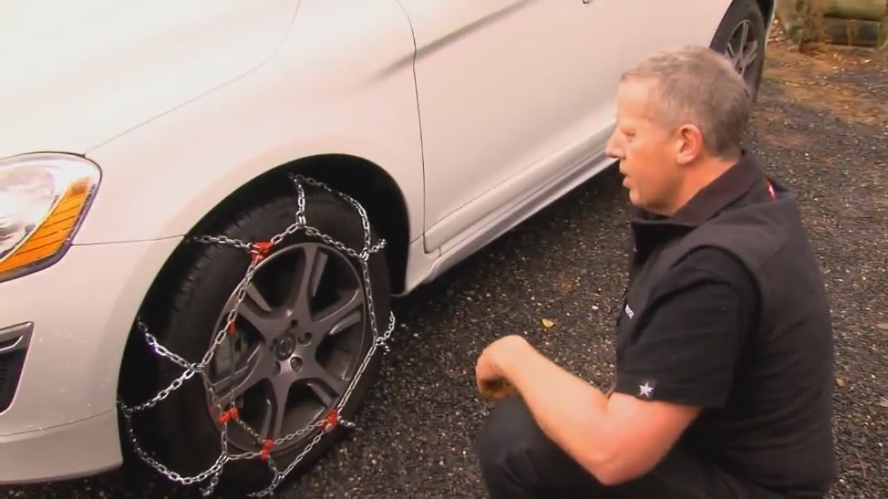 how to put snow chains on youtube