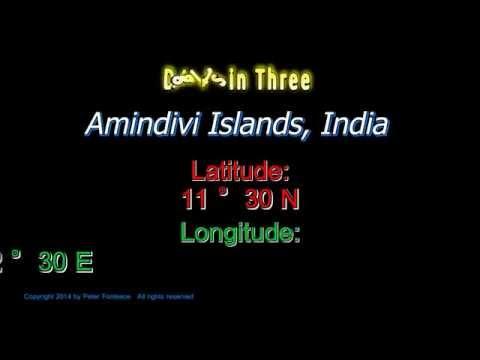 Amindivi Islands India - Latitude and Longitude - Digits in Three