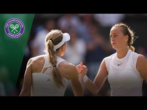 Petra Kvitova v Johanna Larsson highlights - Wimbledon 2017 first round