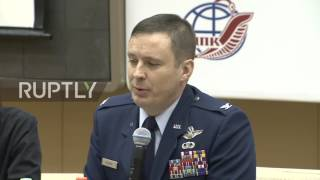 Russia  Soyuz MS 04 crew holds press conference ahead of April 10 flight to ISS