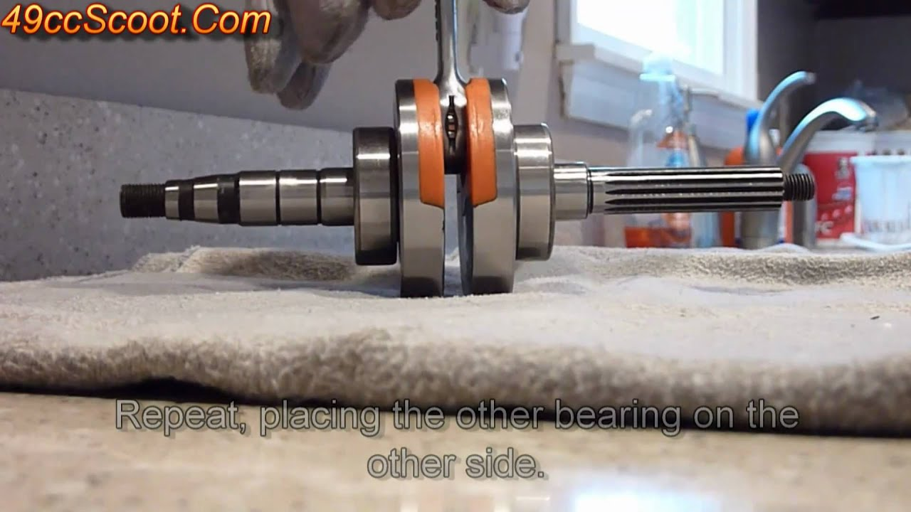 Scooter Crankshaft Bearing Installation Hot Cold Method How To Lambretta Wiring Diagram 100 Youtube