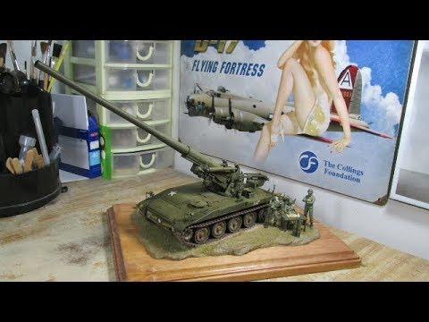 Building Tamiya-Italeri M107 Self-Propelled Gun. From Start to Finish.