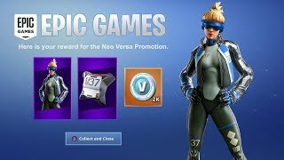 COMMENT À GET NEW SKIN -NEO VERSA' EXCLUSIVE PS4 AT FORTNITE BATTLE ROYALE