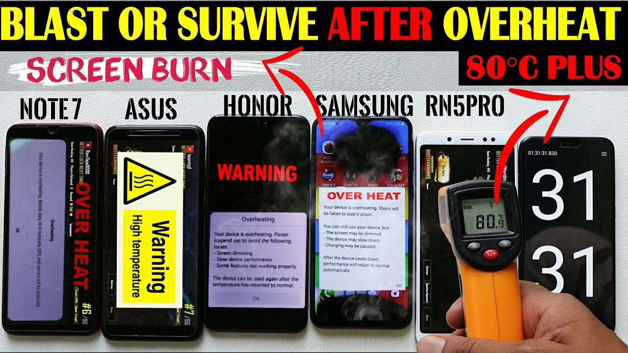 Download What Happens After 80°C Overheat #REDMI NOTE 5 PRO#ASUS M1#SAMSUNG#HONOR