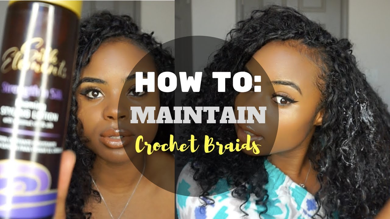 How I Maintain My Curly Crochet Braids Tips Tutorial Youtube