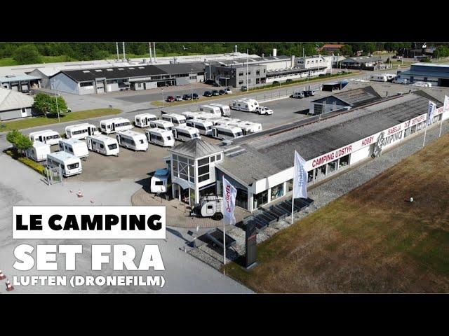 LE Camping set fra luften (Dronefilm)
