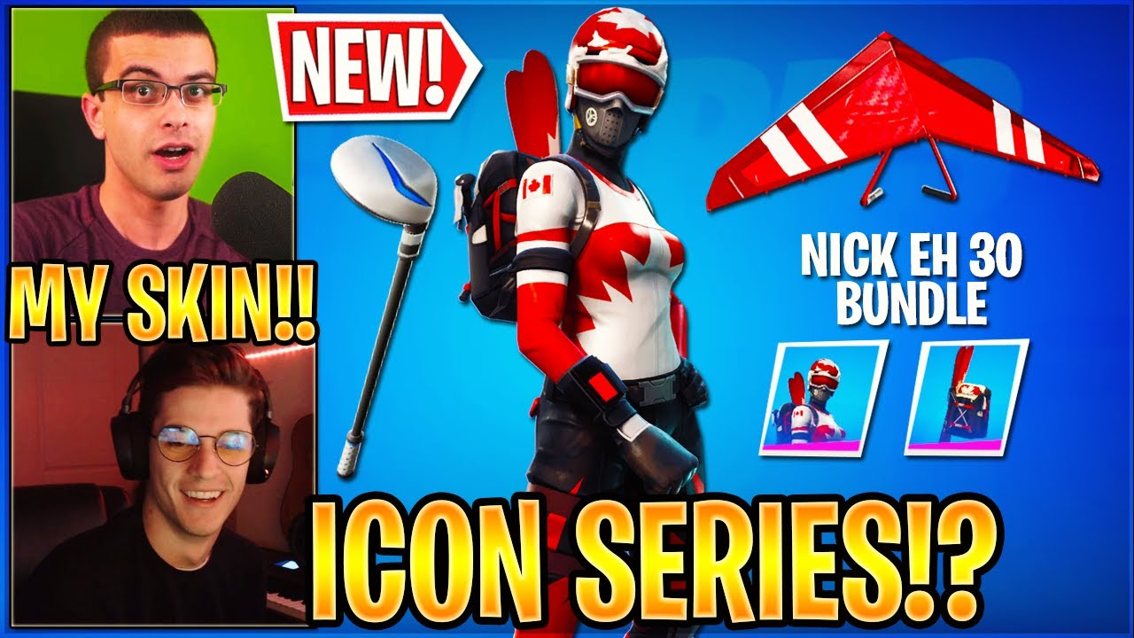 Nick Eh 30 & Streamers React to His *NEW* Bundle in the item Shop.